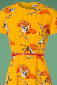 Sugarhill Boutique Ohara Birds Dress in Yellow 102 89 25569 20180821 0001c