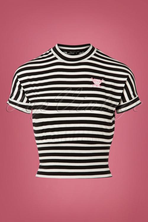 Queen Kerosin Cropped Striped Shirt  111 14 25994 20180821 0001W