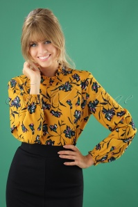 Smashed Lemon Yellow Floral Blouse 25615 20180807 0005w