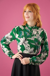 Smashed Lemon Blouse in Floral Green 25602 20180807 01W