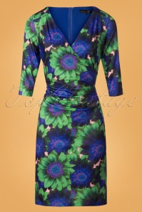 Smashed Lemon Floral Green Pencil Dress 25603 20180801 0007W