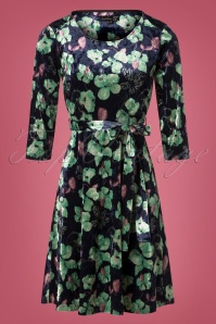 Smashed Lemon Blue and Green Floral Swing Dress 25613 20180724 0002W