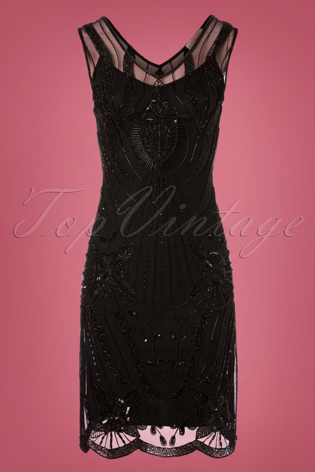 1920s Style Dresses, Flapper Dresses 20s Diana Pencil Dress in Black £116.10 AT vintagedancer.com