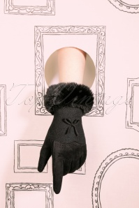Fergi Wool Gloves Années 50 en Noir