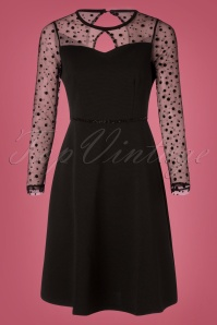 Yumi Ponte Dress Polkadots in Black 102 10 25700 20180821 0001W