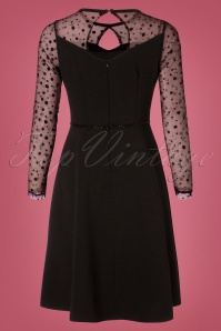 Yumi Ponte Dress Polkadots in Black 102 10 25700 20180821 0004W