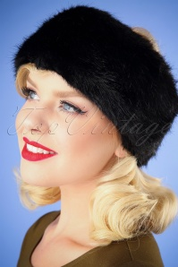 50s Monroe Headband in Black