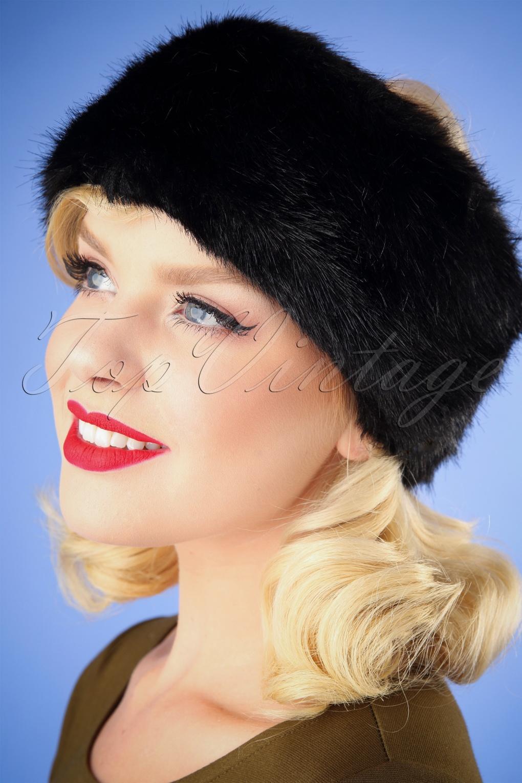 1950s Women's Hat Styles & History 50s Monroe Headband in Black £21.96 AT vintagedancer.com