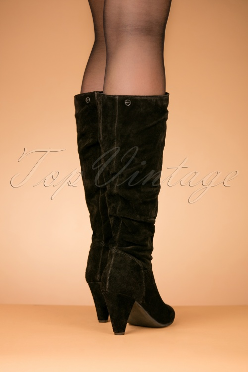 38258912df1 Tamaris Black Leather Boots 440 10 25793 08152018 011W