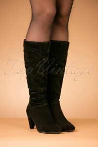 Tamaris Black Leather Boots 440 10 25793 08152018 009W