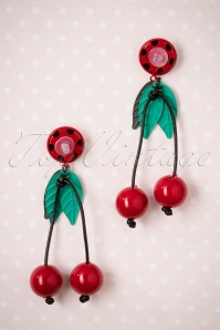 Collectif Clothing Kaye Cherry earrings 333 27 25561 08222018 004W