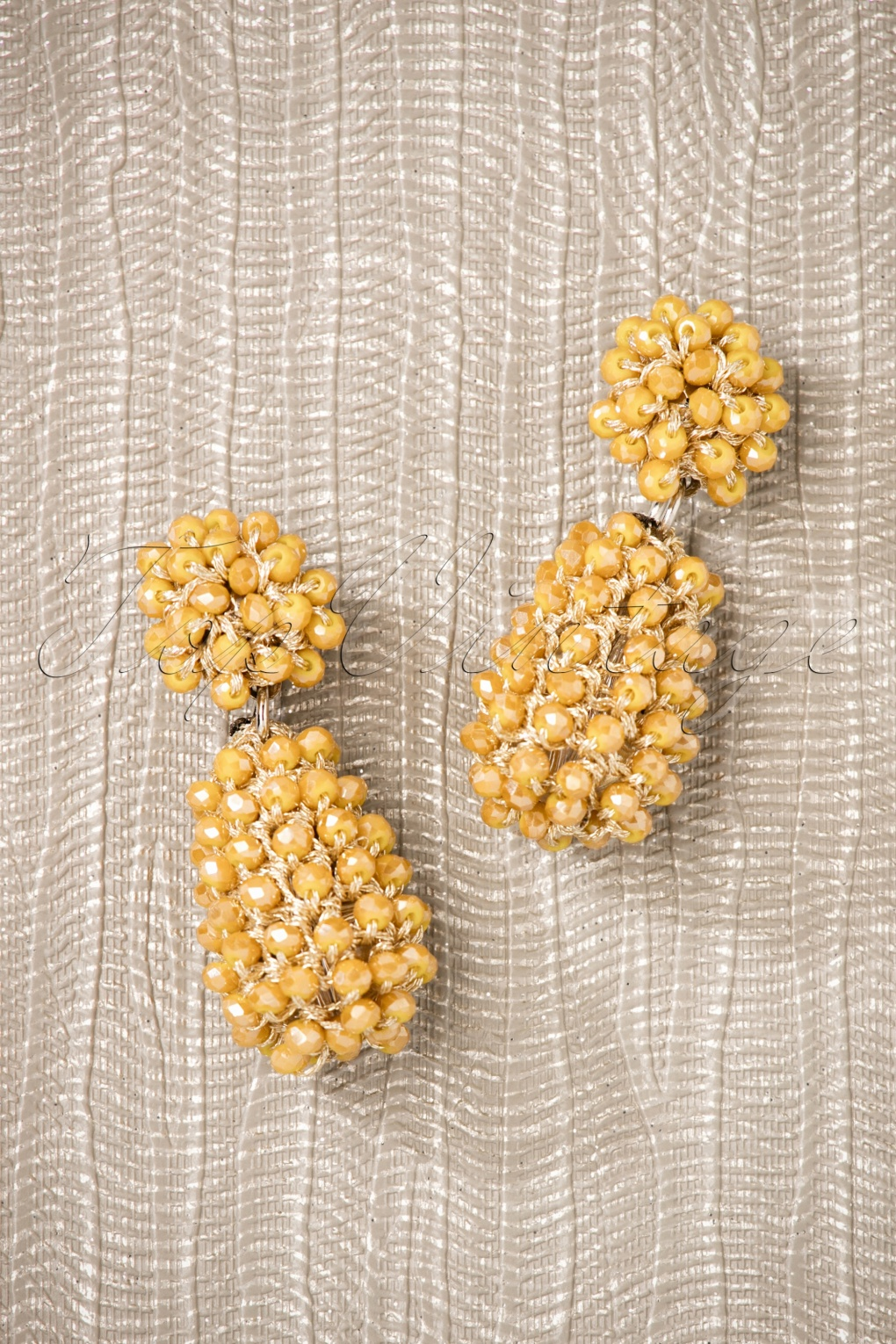 60s -70s Jewelry – Necklaces, Earrings, Rings, Bracelets 60s Maisie Beads Small Earrings in Honey £13.98 AT vintagedancer.com