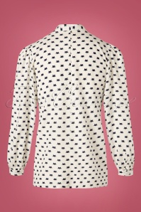 Pretty Vacant Cat Blouse in Ivory 112 59 25192 20180822 0006W