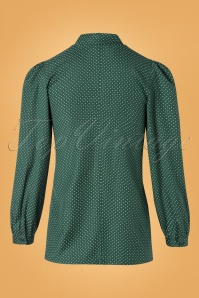 Pretty Vacant Pindot Blouse in Green 112 49 25191 20180822 0008W