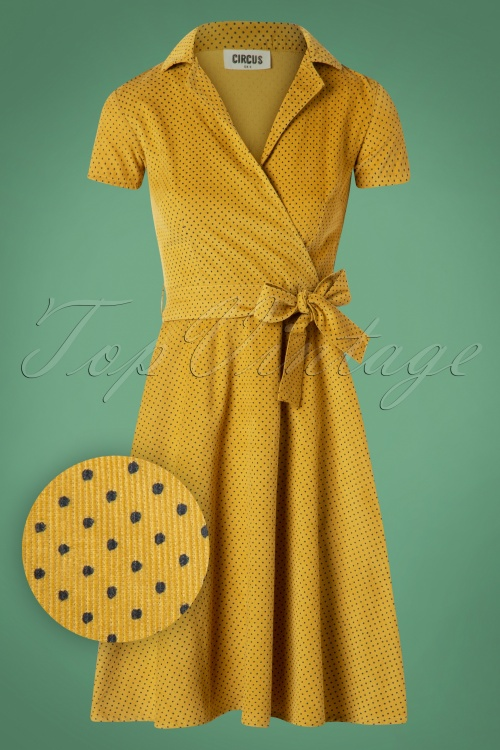 Circus Pindot Swing Dress in Yellow 102 80 25189 20180822 0006W1