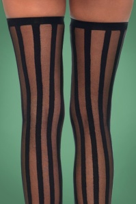 Rouge Royale Sheer Stockings with Black Opaque Vertical Stripes 179 10 27220 24082018 01c