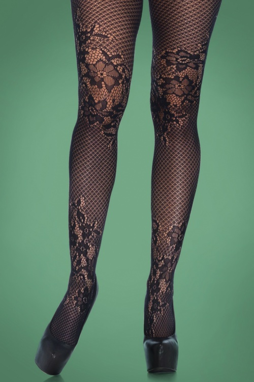Rouge Royale Seamless Allure Net and Lace Tights 171 10 27223 24082018 01a