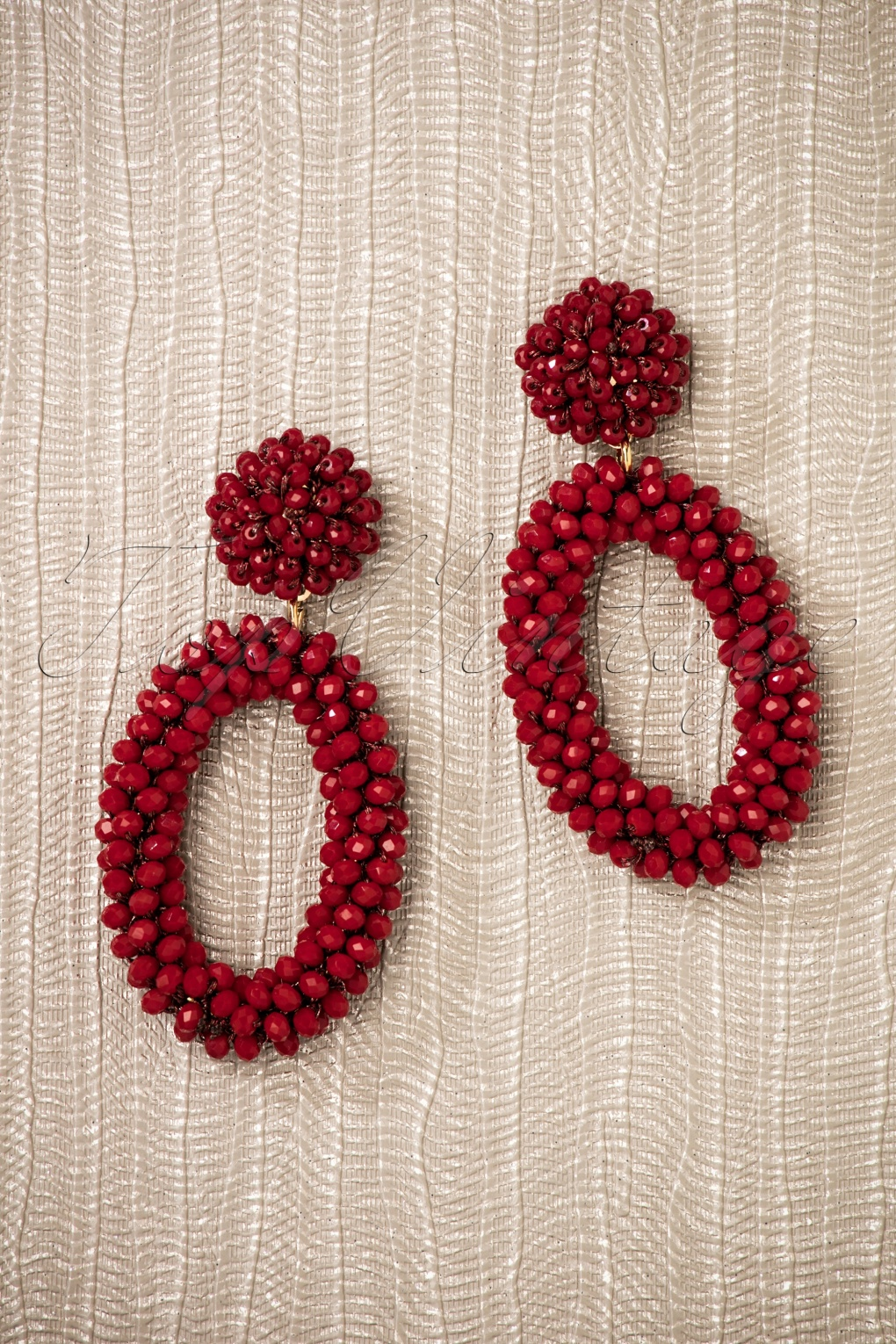 1960s Style Dresses, Clothing, Shoes UK 60s Mia Beaded Earrings in Dark Red £10.47 AT vintagedancer.com