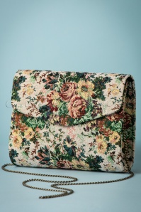 30s Malaga Floral Bag in Beige