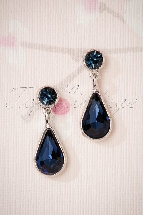 Glamfemme Earrings in Blue 330 30 26871 08212018 002W