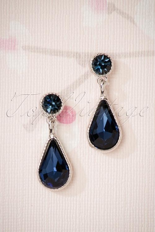 Glamfemme Earrings in Blue 330 30 26871 08212018 002W