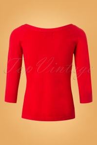 Banned Ruby Tie Knot Knit Top Red 26233 20180709 0004W