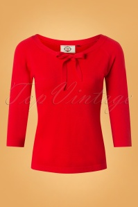 Banned Ruby Tie Knot Knit Top Red 26233 20180709 0001W
