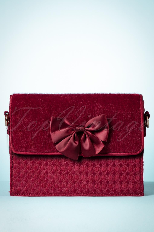 Vintage & Retro Handbags, Purses, Wallets, Bags 60s Mandalay Handbag in Burgundy £44.35 AT vintagedancer.com