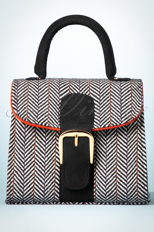 Vintage & Retro Handbags, Purses, Wallets, Bags 60s Riva Handbag in Tweed £49.86 AT vintagedancer.com