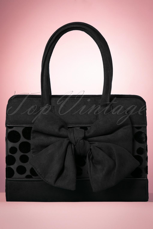 Vintage & Retro Handbags, Purses, Wallets, Bags 60s Dakota Handbag in Black £56.12 AT vintagedancer.com