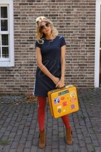 Mod Denim Dress Années 60 en Bleu Encre