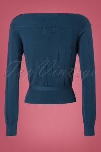 Banned Violetta Knitted Top in Blue 26259 20180718 0005W