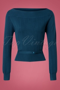 Banned Violetta Knitted Top in Blue 26259 20180718 0002W