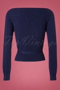 Banned Violetta Knitted Top in Night Blue 26260 20180718 0005W