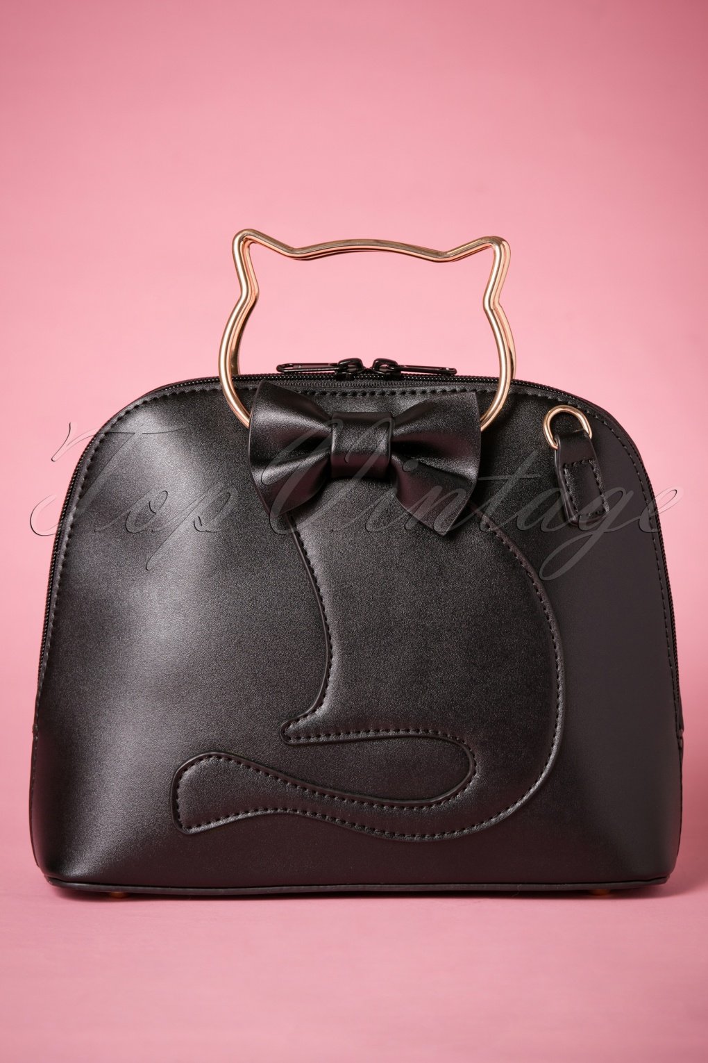 1950s Fashion History: Women's Clothing 50s Dixie Cat Bag in Black £31.82 AT vintagedancer.com