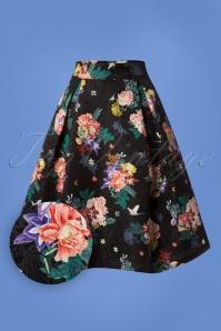 Yumi Botanical Jacquard Skirt 122 14 25701 20180828 0002W1