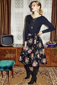 Yumi Botanical Jacquard Skirt 122 14 25701 20180828 01