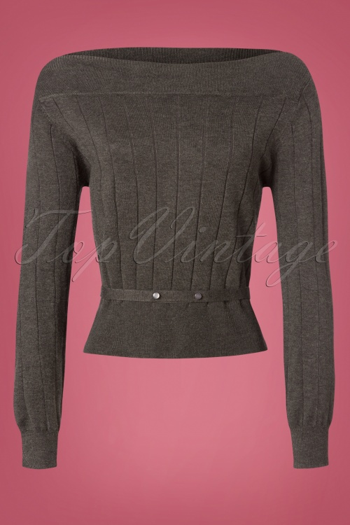 Dancing Days by Banned Viola Knitted Top in Grey 26258 20180709 0003W