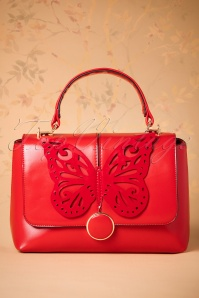 60s Papilio Handbag in Red