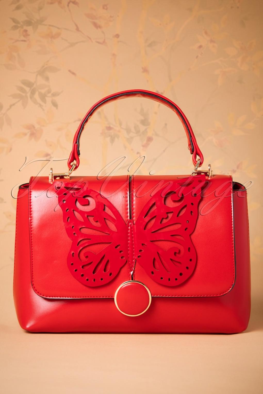 Vintage & Retro Handbags, Purses, Wallets, Bags 60s Papilio Handbag in Red £41.95 AT vintagedancer.com