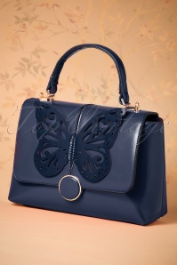 60s Papilio Handbag in Night Blue