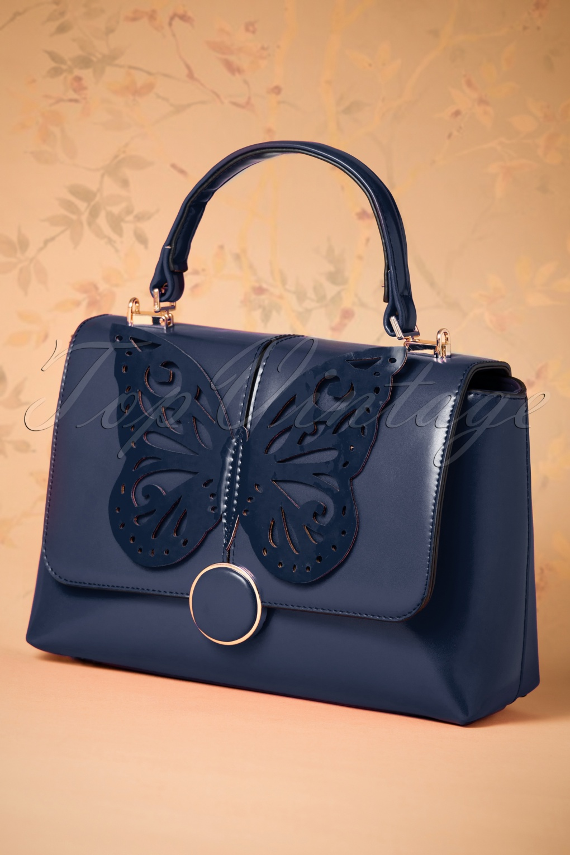 Vintage Handbags, Purses, Bags *New* 60s Papilio Handbag in Night Blue £42.98 AT vintagedancer.com