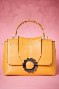 60s Bellis Daisy Handbag in Mustard