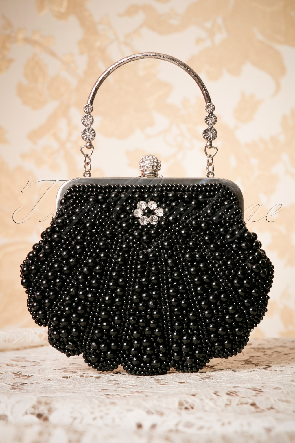 1920s Handbags, Purses, and Shopping Bag Styles 20s Eleanor Beaded Handbag in Black £44.40 AT vintagedancer.com