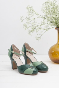 Miss L Fire Grace Forest Green Mary Jane Pumps 402 20 25415 07112018 003
