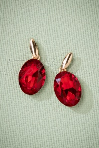 50s Ruby Earrings in Gold
