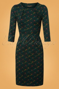 King Louie Mona Dress Rizzle in Alpine Green 25323 20180620 0002W