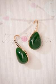 Glamfemme Earrings in Green 330 40 26856 08212018 002W