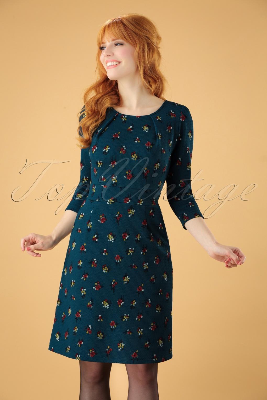 60s mona mayflower dress in orient blue. Black Bedroom Furniture Sets. Home Design Ideas