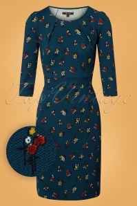 King Louie Mona Dress Mayflower Orient Blue 25311 20180620 0001W1